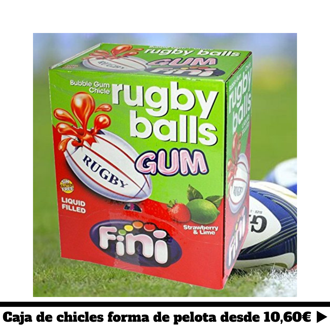 chicle pelota de rugby